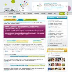 Cancer Contribution vous permet d'ouvrir votre propre forum, d'y poster les premiers éléments de discussion, de l'animer et de le relancer régulièrement. Il vous appartient de choisir dans quel rubrique vous souhaitez l'intégrer et d'avoir un intitulé suffisamment clair et précis pour que le débat s'engage. A vous de jouer...  http://www.cancercontribution.fr/forum/64/entrypage/itemid-62