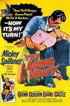 film NOIR MOVIE poster MICKEY SPILLANE'S THE LONG WAIT dames hot 24X36