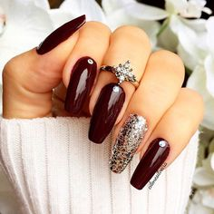 Fresh And Trendy Ways To Match Your Prom Nails Colors With Your Dress: #Prom Nails For Blue Dress #prom; #nails; #nailart