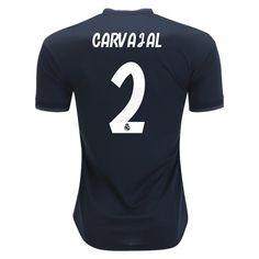 2018 19 Dani Carvajal Jersey Number 2 Away Men s Authentic Real Madrid  Soccer Real Madrid 932937bcd