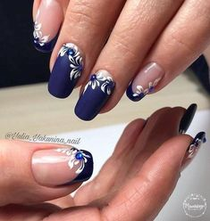 Nail Art Designs In Every Color And Style – Your Beautiful Nails Fingernail Designs, Acrylic Nail Designs, Nail Art Designs, Nails Design, Elegant Nails, Stylish Nails, Fancy Nails, Pretty Nails, Blue Nails