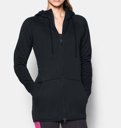 Women's UA Storm Armour® Fleece Long Full Zip, Black Shop @ FitnessApparelExpress.com