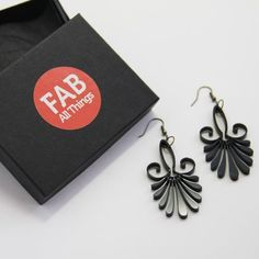 Lasercut Palm Earrings by FabAllThings Personalized Christmas Ornaments, Laser Cutting, Personalized Gifts, Wedding Gifts, Palm, Creative, Earrings, Accessories, Jewelry
