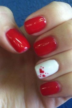 50 Pretty and Classy Valentines Day Nails Ideas #ValentinesDayNailsIdeas #ValentinesDayIdeas