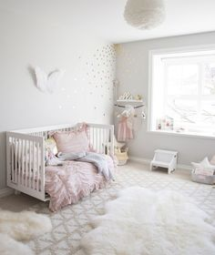 Over the moon excited to share our newest project, ELLA'S ROOM! This room was created for a toddler girl and is bright and airy with touches of gold and rose quartz, Pantone's colour of 2016. Three-year-old Ella and her family had recently moved into a bigger home and were looking to have the room transformed from a baby nursery into a space that Ella could enjoy not only now as a toddler but somewhere special that could be used and loved for years to come. The overall goal was to