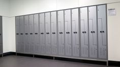 Custom made Z-lockers. These lockers are the most space efficient lockers. 2 lockers with place for shoes and jacket in the place of 1!