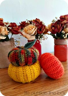 DIY Fall Decor On A Budget with free crochet pumpkin pattern