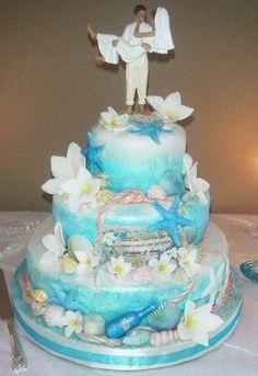 Wedding Cake Ideas For Beach Wedding : 1000+ images about Beach wedding cakes on Pinterest ...