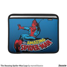 The Amazing Spider-Man Logo MacBook Sleeve. Awesome Spider-Man Vintage Classic superhero designs to personalize as a gift for yourself or friends and family. Wonderful comic book hero gift ideas for birthdays. Spiderman Comic Books, Comic Book Heroes, Macbook Air Sleeve, Ipad Sleeve, Neoprene Laptop Sleeve, Laptop Sleeves, Incredible Hulk, Amazing Spider, Custom Laptop