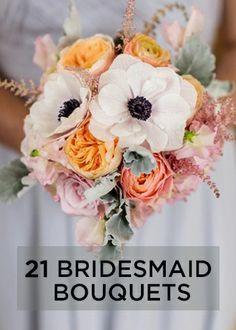 Bridesmaid bouquets // rananculus // Renaissance Floral Design www.weddingwire.com