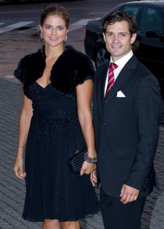 Prince Carl Philip of Sweden and his sister princess Madeleine at the opera.