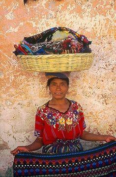 La Vendedora de Tejidos. Mexico.