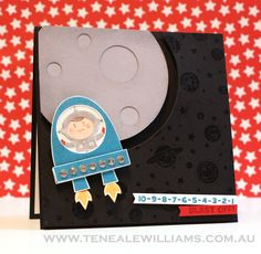 Blast Off Stampin Up Card by Teneale Williams (Spinner Card)