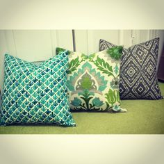 Indoor/Outdoor 18x18in Pillows! Turquoise and lime green have defiantly been our thing this summer!  Add a pop of color to your favorite spot for only $28! ☀️ #ahadesigns #custompillows #summertime #popofcolor #dormlife #outdoorpatio #love