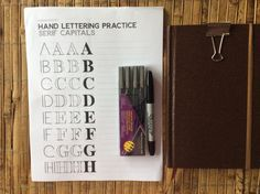 I want to make my bullet journal attractive and pleasant to look at. I'm no artist, but I can draw a straight line or two. I found some great practice sheets for brush lettering at Tombowusa …