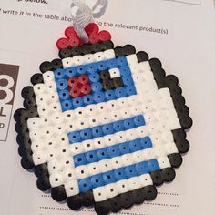 R2D2 Christmas bauble hama beads by pixievoltaire