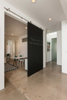 Chalk board sliding door
