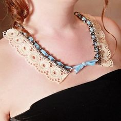 DIY Sweet and Shabby Lace NEcklace