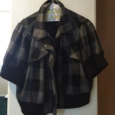 Jacket 3x jacket black and grey checkered. Waste length. Jackets & Coats Blazers