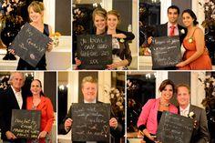 Foto's van gasten met een persoonlijke boodschap!