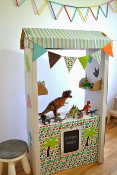 Cardboard Crafts, Paper Crafts, Diy Crafts, Knock Off Decor, Little Man Style, Kids Board, Dinosaur Party, Creative Play, Toys Shop