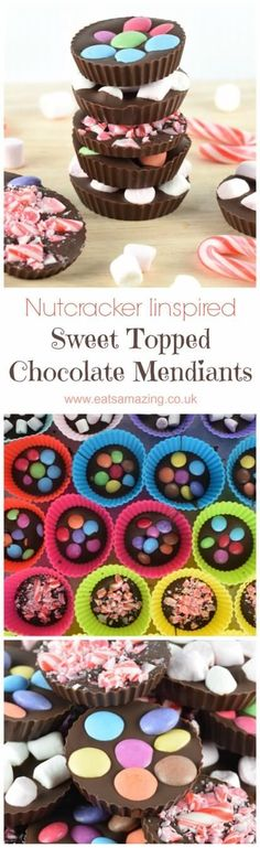 Fun Nutcracker themed food idea - sweet topped chocolate mendiants for a nutcracker party - great homemade gift idea for kids to make too