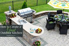 How create a great outdoor kitchen. #outdoor #ideas #bbq