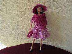 Barbie spring dress, crochet, hand make