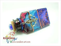 Hand Painted Art Bottle Art on Glass Creatively by RandamArt.