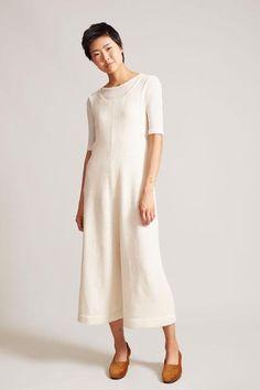 544004185f2 Lauren Manoogian Miter Jumpsuit in White