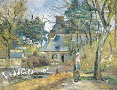 Camille Pissarro - Farm at Montfoucault, 1874