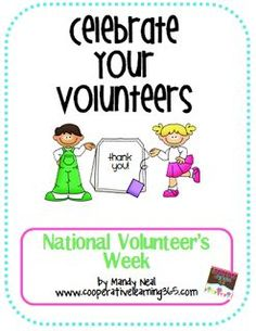 A great way to recognize those who volunteer during National Volunteer Week or anytime of the year.