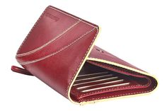 Flap over girls wallet in genuine cow leather . Contrast edge color and stitch detail. Wallets from Fastrack http://www.fastrack.in/product/c0322lrd01/?filter=yes=india=8=4&_=1334231923409