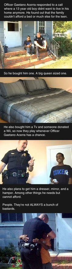How About Some Love For A Good Police Officer Happy News Stories, Feel Good Stories, Sweet Stories, Sad Stories, Crazy Stories, Beautiful Stories, Beautiful People, Human Kindness, Kindness Matters