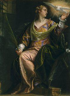 Saint Catherine of Alexandria in Prison, ca. 1580–85 Paolo Veronese (Paolo Caliari) (Italian, Venetian, 1528–1588) Oil on canvas