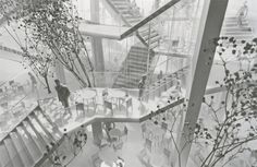 a network of staircases defines taiwan cafe by sou fujimoto Sou Fujimoto, Arch Architecture, Architecture Portfolio, Library Architecture, Architecture Diagrams, Neoclassical Interior, Hospital Design, Home Building Design, Arch Model