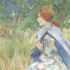 """Marianne Stokes (1855-1927) - """"The Frog Prince"""""""