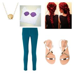 """Disney bound Ariel"" by bobbiemarie03 ❤ liked on Polyvore featuring STELLA McCARTNEY, Ancient Greek Sandals and Disney"