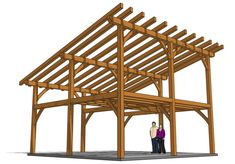 The 872 total square feet in this 24x24 timber frame lean-to with loft gives you plenty of options for how to use the space.