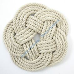 Nautical Rope Trivet Made in USA $10.00 via Mystic Knotwork