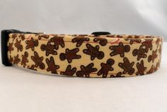 Awesome Gingerbread Men on Brown Holiday Dog Collar by Maltipaws, $13.25