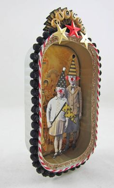 Billy and Tess at the Circus by Rackycoo (Altered Sardine tin) - PAPER CRAFTS, SCRAPBOOKING & ATCs (ARTIST TRADING CARDS)