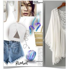 Designer Clothes, Shoes & Bags for Women Fashion Outfits, Womens Fashion, Lace Trim, Polyvore, Kimono, Ruffle Blouse, Crop Tops, My Style, Crochet