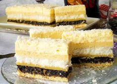 Danina kuhinja: Kolač sa makom i kokosom Romanian Desserts, Cake Cookies, Food Styling, Vanilla Cake, Coco, Sweet Treats, Cheesecake, Food And Drink, Cooking Recipes