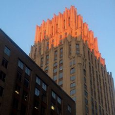 Sunset on the JPMorgan Chase Building