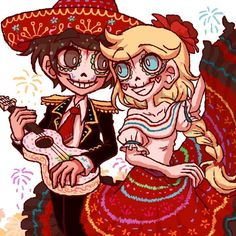 Starco at the day of dead Starco Comics, My Little Pony, Princess Star, Disney Xd, Blood Moon, Star Butterfly, Star Wars, Cartoon Shows, Star Vs The Forces Of Evil