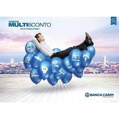 """Nuovo """"Conto Multisconto"""" Banca Carim Prendi Guadagni. #prodotti #bancacarim #sconti #controcorrente #instagram #bancacarim"""