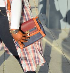 The AfroFusion Spot, Style Guide, Fall, fall fashion, Layers, fashion, style, plaid, bag, purse, accessories, denim, lookbook,