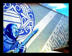 Check out the #ilovememphis #mural outside of #StBluesGuitarWorkshop in #Memphis. 645 Marshall #38103