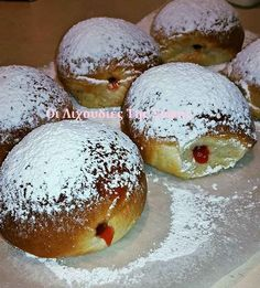Greek Sweets, Greek Desserts, Greek Recipes, Donut Recipes, Sweets Recipes, Candy Recipes, Food Network Recipes, Food Processor Recipes, Low Calorie Cake